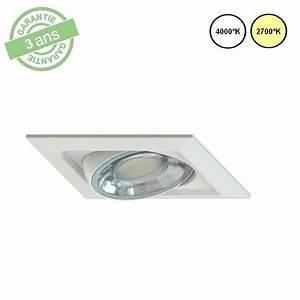 Spot Carré Led : ara spot led carr orientable blanc 8w 600 lumens ~ Edinachiropracticcenter.com Idées de Décoration