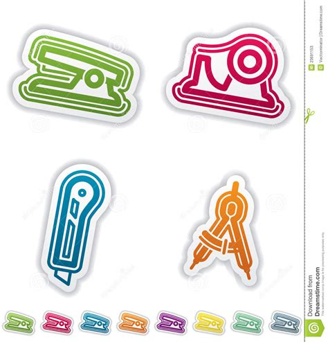 fourniture de bureau jpg fourniture de bureau illustration de vecteur illustration
