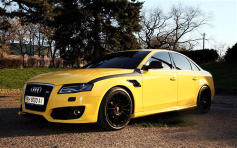 Audi A4 Hd Picture by Wallpaper Audi A4 Yellow Color Car 1920x1200 Hd Picture Image