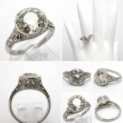 antique deco engagement rings deco engagement ring antique european cut platinum 1930s 1