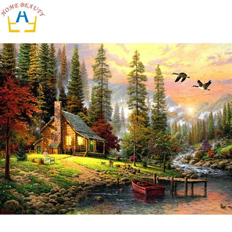 home beauty oil paint painting  numbers diy picture