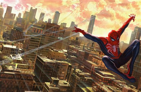 marvel comics night peter parker superhero spider man