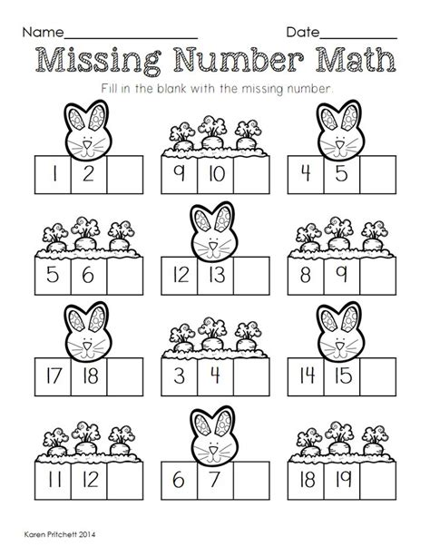 math worksheets with missing numbers 1000 images about easter on pinterest easter activities