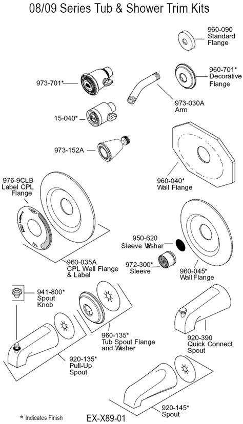 Shower Faucet Parts by Single Handle Shower Faucet Diagram