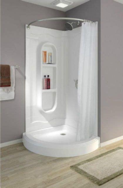 piece shower stall ideas  pinterest  piece shower fiberglass shower