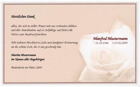 trauerdanksagungskarte rosenbluete muster anteilnahme