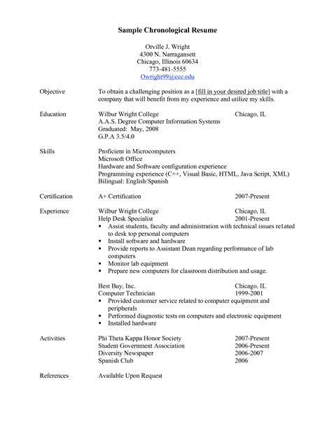 functional executive format resume builder sle chronological resume template recentresumes com