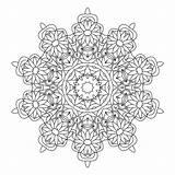 Coloring Kaleidoscope Pages Adults Adult Printable Books Mandala Coloringhome Popular Mandalas Template sketch template