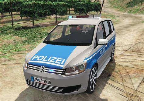 volkswagen touran polizei thueringen replace gta modscom