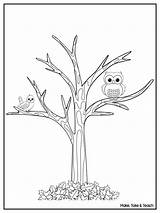 Tree Fall Coloring Leaves Pages Printable Without Fun Sheets Trees Autumn Owl Mango Templates Freebie Printables Teach Take Maketaketeach Outline sketch template