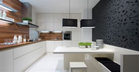 deco cuisine blanc et bois idee chambre noir et blanc
