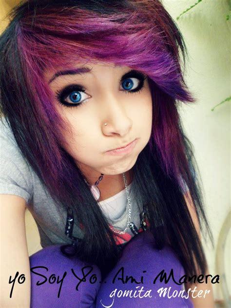 Dark Black And Purple Scene Hair Scene And Emo Cute Hair