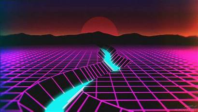 Neon Retro Synthwave Wave Desktop Wallpapers Backgrounds