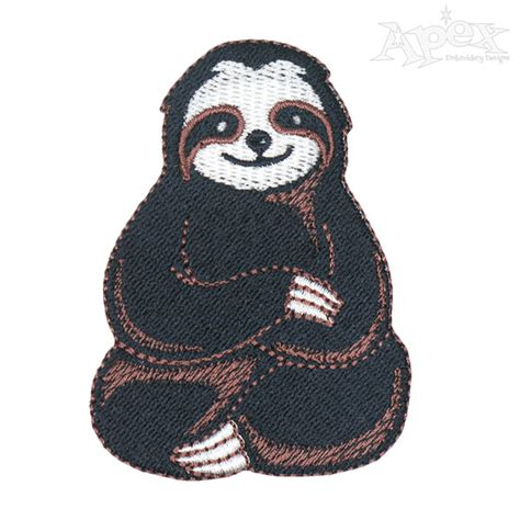 sloth embroidery design