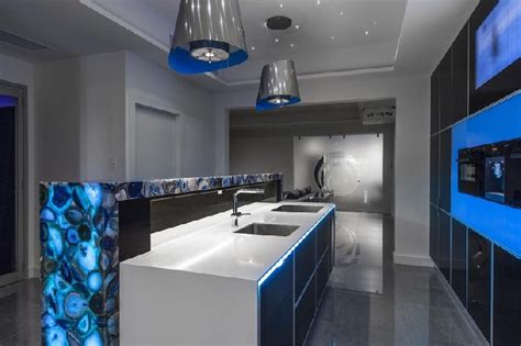impressive blue kitchen designs