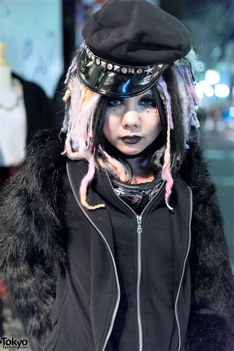 shironuri style cyber goth   street  harajuku