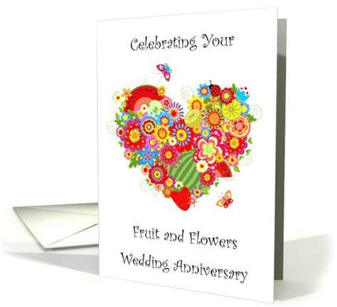 celebrating  wedding anniversary fruits  flowers