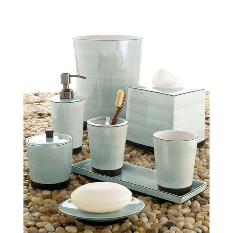 luxury kitchen lighting kassatex tribeka bath accessories collection seafoam