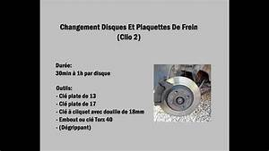 Changement Disques Et Plaquettes De Frein  Clio 2