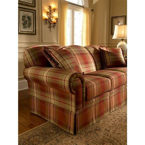 plaid loveseat the tremont plaid sofa set