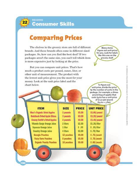 consumer math worksheets consumer math archives