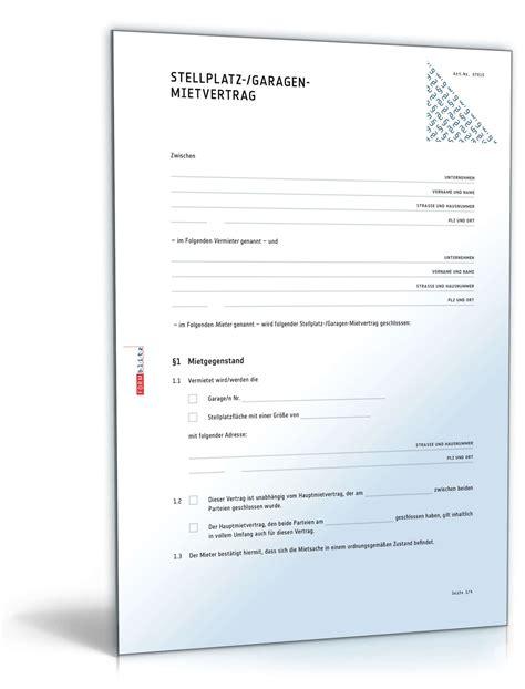 Garagenmietvertrag  Mustervorlage Zum Download
