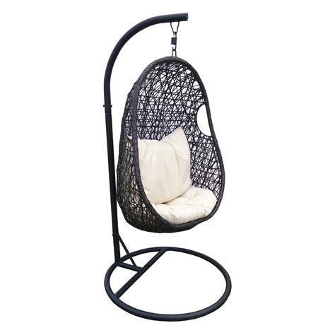 chaise suspendu chaise suspendue en résine tréssée leroy merlin