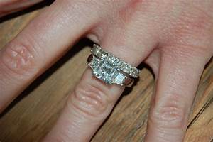 three stone radiant cut engagement ring infinity wedding With wedding bands that go with 3 stone rings