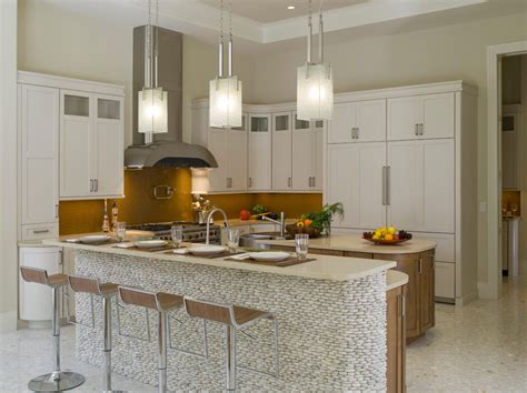 Square Pendant Light Kitchen Contemporary With City View