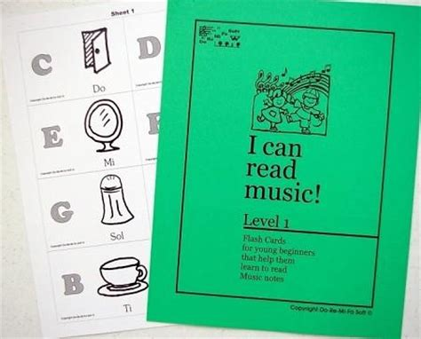 Music Note Flash Cards  Level 1 English  Soft Mozart
