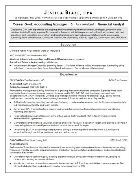 resume for an accountant cpa resumes resume ideas
