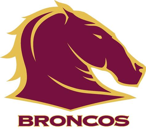 Logo brisbane broncos graphic design font, design, canada, logo png. Brisbane Broncos Primary Logo (1998) - A burgundy and gold horse head facing towards the right ...