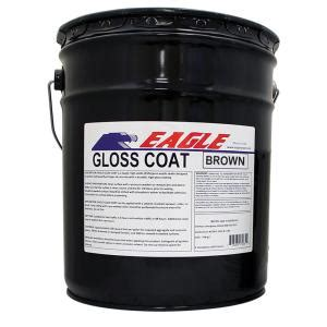 eagle  gal gloss coat brown tinted semi transparent wet