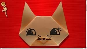 Origami Facile Tte De Chat YouTube