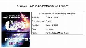A Simple Guide To Understanding Jet Engines Pdf Book