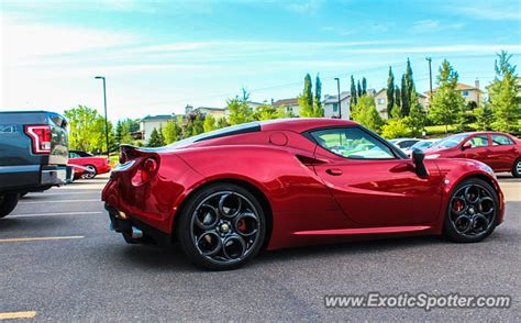 Alfa Romeo 4c Spotted In Calgary, Canada On 07/19/2016