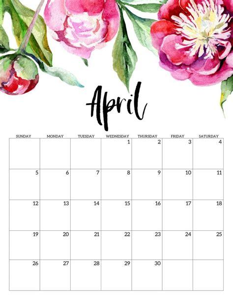 editable april  calendar printable