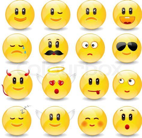 yellow smiley balls mit positiven und negativen emotionen