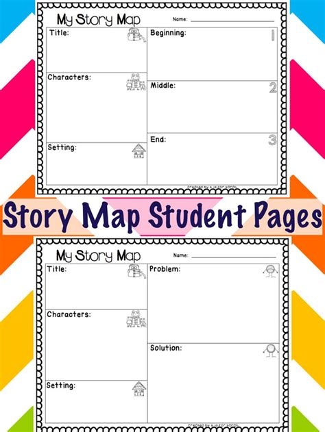 story map student pages  grade worksheets student map