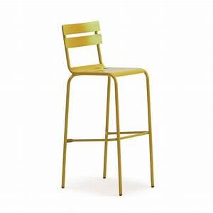 Chaise De Bar Exterieur : chaise haute metallique empilable galvanise de couleurs cmg 15121 one mobilier ~ Melissatoandfro.com Idées de Décoration
