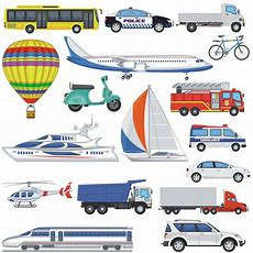Transport Clipart, Vehicle Clipart, Car Clip Art, Car Bus Sailing Hot Air Balloon Truck