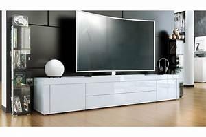 Meuble Tv Long : meuble tv design 200 cm de long 10 finitions moderne novomeuble ~ Teatrodelosmanantiales.com Idées de Décoration