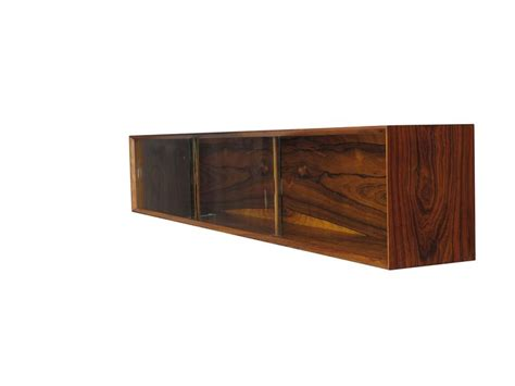 wall credenza wall mount floating rosewood credenza at 1stdibs