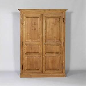 Armoire Penderie Bois Massif : armoire bois massif cir miel 2 portes 1 penderie mobilier mobilier de salon armoire en ~ Melissatoandfro.com Idées de Décoration