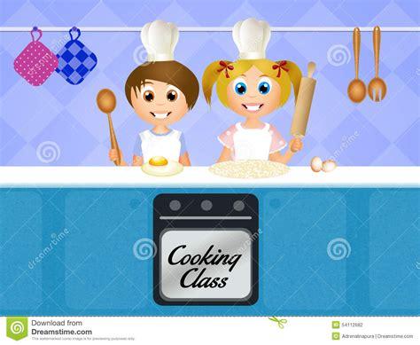 Cours De Cuisine Pour Des Enfants Illustration Stock