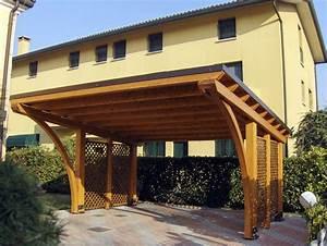 tettoia copertura auto in legno Round R02207