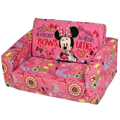 disney minnie mouse flip out double foam sofa settee kids