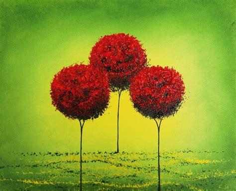 contemporary trees bing art by rachel bingaman original modern art deco abstract painting gallery art landscape