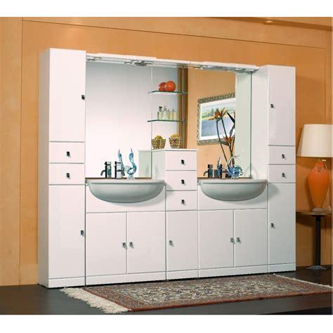 mobile bagno doppio lavello arredo bagno cleo mobile bagno semincasso con doppio