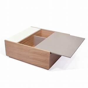 Table Basse Blanc Gris : temahome table basse dann ch ne gris blanc ~ Teatrodelosmanantiales.com Idées de Décoration
